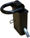 "trailer stake pocket tie down with 1/2"" ring - 12,000 lb, black / T11B"
