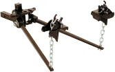 Straight square bar style weight distributing hitch - 800 lb tongue capacity / TW08